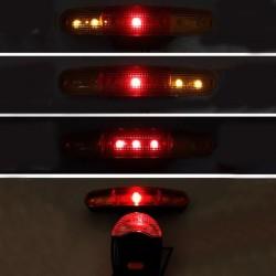 Set lumini siguranta LED bicicleta, sonerie cu 8 melodii, lumini frana si semnalizare