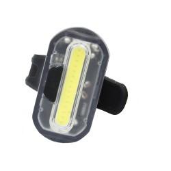 Far LED pentru bicicleta, curea fixare, alimentare 2 baterii CR2032, 2 moduri iluminare