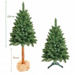 Brad de Craciun artificial verde, Diamond Pin 190 cm, tulpina inalta cu aspect natural, design inedit