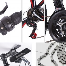 Bicicleta MTB Tornado, roti 26 inch, 21 viteze, cadru otel 17 inch, frane disc, suspensii, jante aluminiu