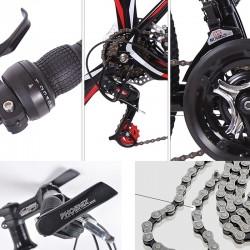 """Bicicleta MTB Tornado roti 26 inch, frane pe disc, 21 viteze, cadru otel 17"""", negru-gri"""
