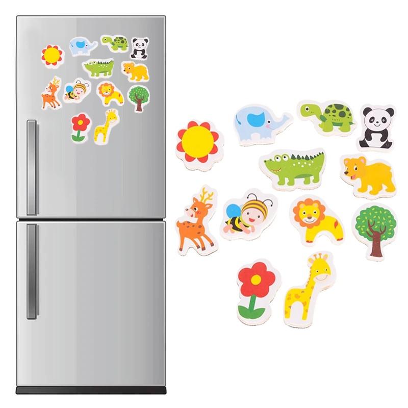Animale magnetice, figurine educative pentru copii, set 12 magneti de frigider