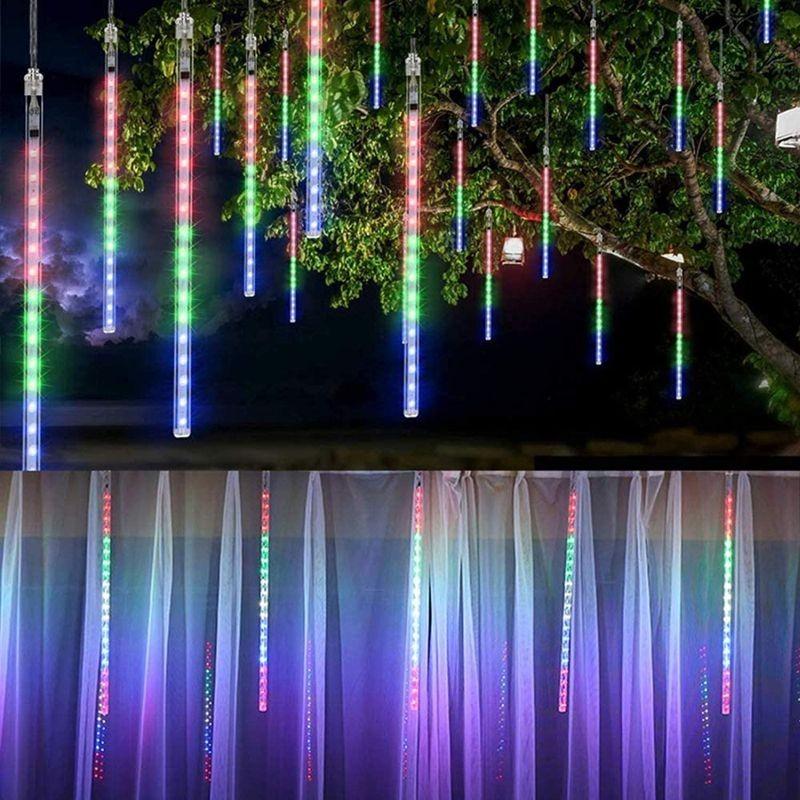 Instalatie meteori, 288 LED-uri RGB, turturi 50 cm lumina curgatoare, 4.5 m, IP44
