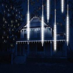 Instalatie curgatoare tip meteori, 288 LED-uri alb rece, IP44, 3.5W, lungime 4.5 m
