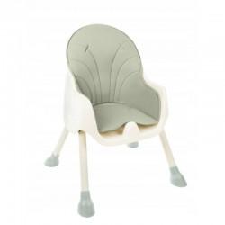 Scaun de masa pentru bebelusi, 2 in 1, prindere in 5 puncte, 60X92X75 cm, tava reglabila, verde