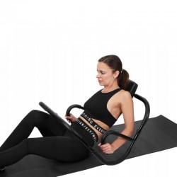 Aparat pentru abdomen, tetiera, fitness, maxim 100kg, utilizare confortabila, negru