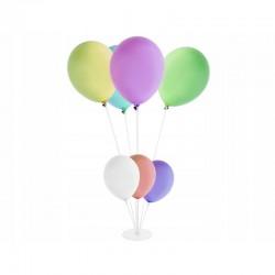 Stand pentru 7 baloane, 24 elemente, conectori, alb-transparent