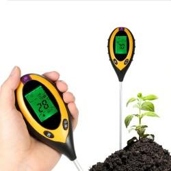Tester pentru sol 4 in 1 digital, valoare PH, contor de acid, masurator umiditate, interior si exterior