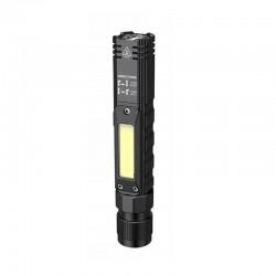 Lanterna LED 5W reincarcabila USB, 5 moduri iluminare, sursa dubla lumina, magnetica, rezistenta la apa, unghi 90 grade