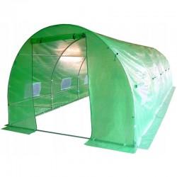 Sera, tip tunel, 8x3x2m, solar ferestre cu plasa anti-insecte, cadru metal, filtru UV4