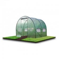 Sera tip tunel, 2x2x2 m, pentru gradina, solar folie PE cu filtru UV4, cadru metal, ferestre