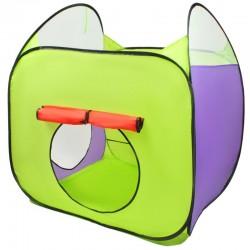 Loc de joaca copii, 2 corturi, tunel de legatura, 200 bile colorate, husa ,375 cm