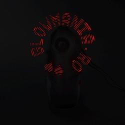 Ventilator de mana portabil personalizabil cu LED