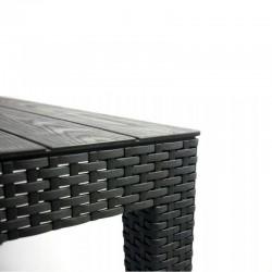 Set masa de cafea, 2 fotolii, canapea, model ratan, structura rezistenta, pentru terasa