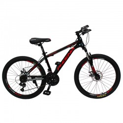 Bicicleta Mountain Bike, roti 24 inch, schimbator Shimano, 21 viteze, cadru otel, Phoenix