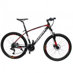 Bicicleta Mountain Bike, roti 26 inch, 27 viteze S-RIDE, frane pe disc, rosu, Phoenix