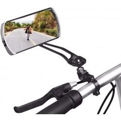 Oglinzi retrovizoare bicicleta, prindere ghidon, rotire 360 grade, structura rezistenta, negru