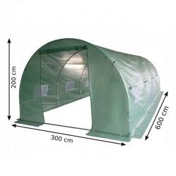 Folie protectie pentru solar de gradina, 6x3x2m, filtru UV, ferestre, 2 intrari