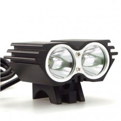 Lanterna far bicicleta dublu LED 2400 lum