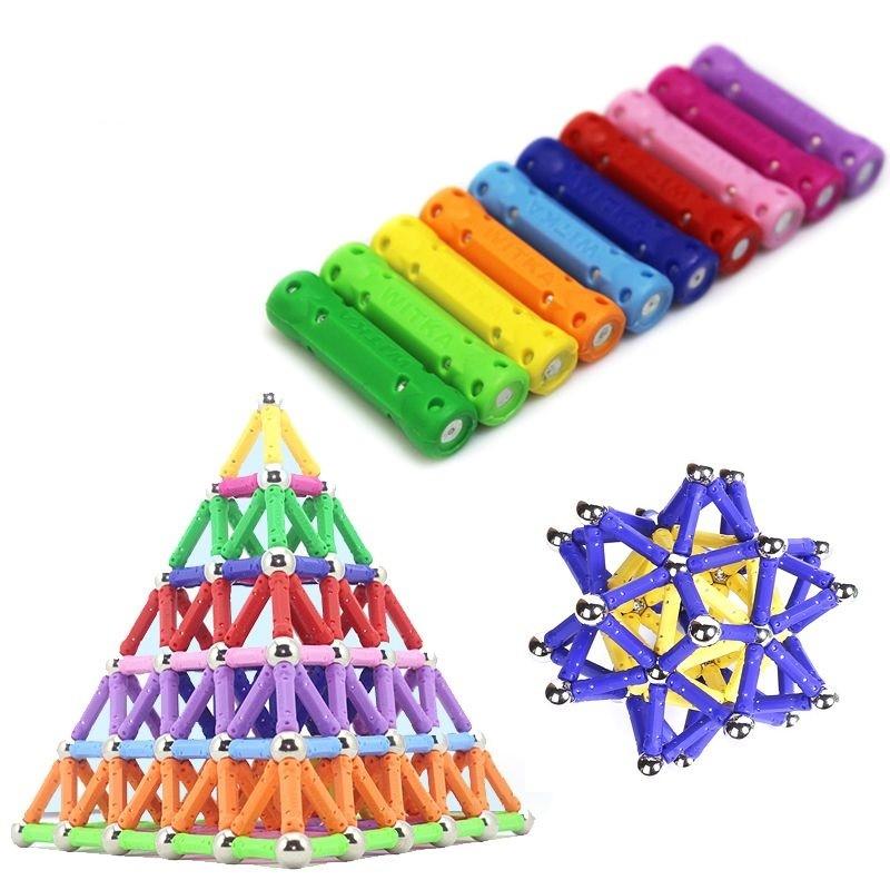 Set constructie magnetic 3D, 230 piese, joc educativ creativ, varsta 6+, ProCart