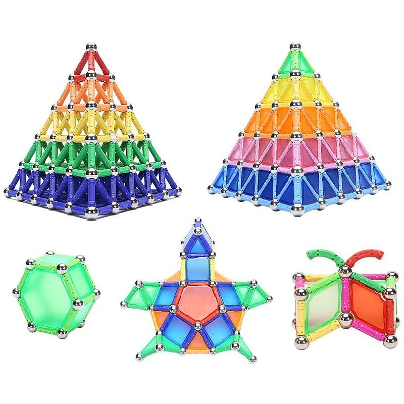 Set constructie magnetic 3D, 350 piese, multicolor, educativ, interactiv, varsta 6+, ProCart