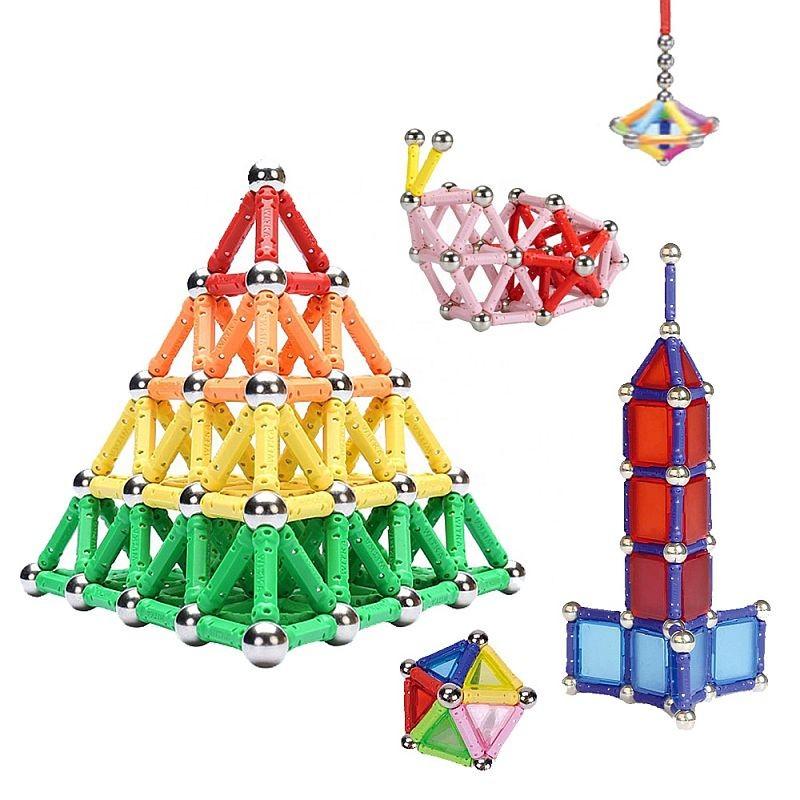 Set constructie magnetic 3D, 138 piese, joc educativ varsta 6+, ProCart