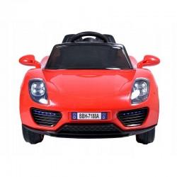 Masina electrica pentru copii, Porsche decapotabila, telecomanda, rosie