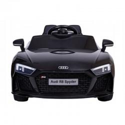 Masina electrica pentru copii, Audi R8, telecomanda, scaune piele ecologica, neagra