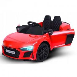 Masina electrica copii, Audi R8, telecomanda, radio Bluetooth, centuri siguranta