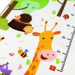 Joc interactiv, covoras termic spuma 180x180 cm, dublu, impermeabil, antiderapant, grosime 1 cm