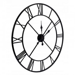 Ceas de perete in stil retro, metal, diametru 80 cm