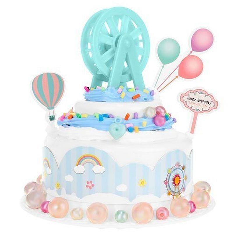 Joc creativ de pregatire a tortului, kit decor tort copii DIY, multiple accesorii, 6+