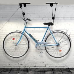 Suport bicicleta, suspendare pe tavan, cu scripete, prindere carlige, universal