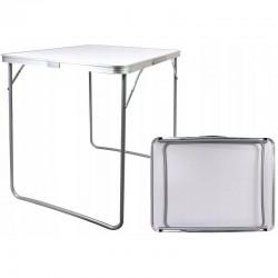 Masa camping 80x60x70 cm, pliabila, aluminiu, blat laminat