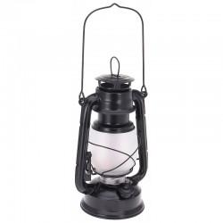 Felinar retro, 34 LED-uri, metalic, negru mat, maner si agatatoare, 24 cm