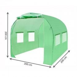 Folie protectie solar de gradina, 2x2x2m, filtru UV, 4 ferestre cu plase pentru tantari, 1 intrare