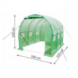 Folie protectie pentru solar, 4.5x3x2m, filtru UV, 6 ferestre plase pentru tantari, 2 intrari