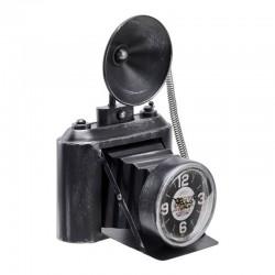 Ceas de masa, forma aparat fotografiat, stil retro, metal