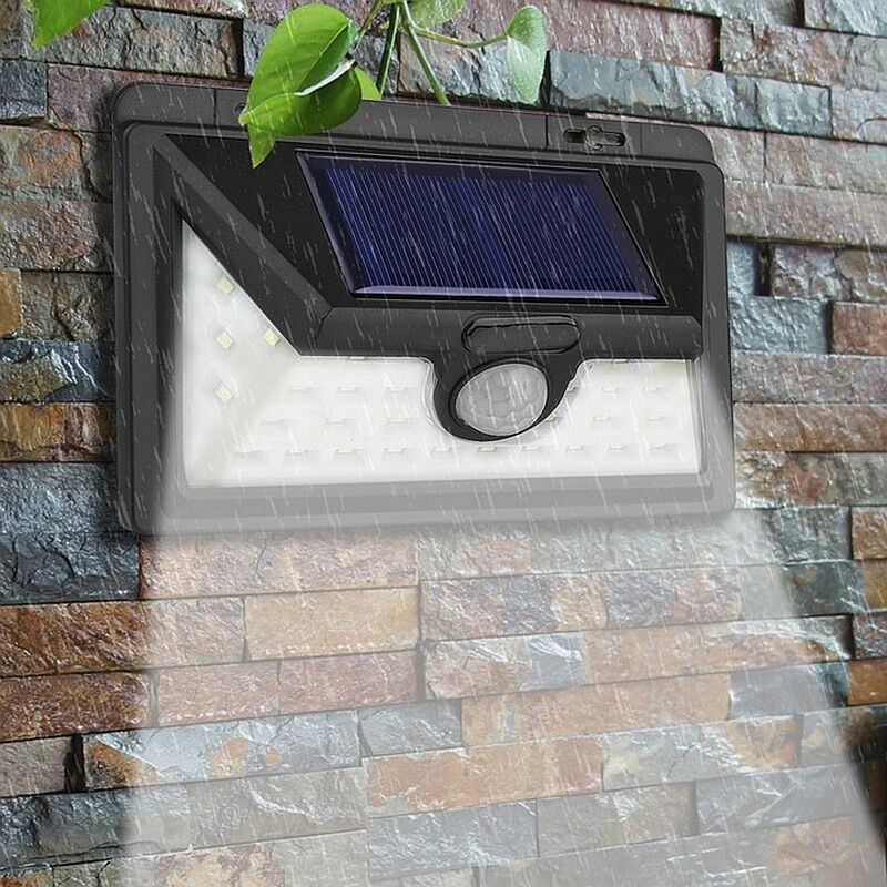 Lampa solara 32 LED-uri, 10W, 150 lm, unghi larg, senzor miscare 360 grade