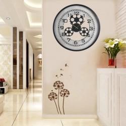 Ceas de perete, forma rotunda, afisaj analog, mecanism Quartz, 48x6 cm