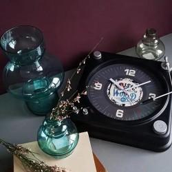 Ceas de perete Gramofon, analog, cifre si liniute, design retro, 35 cm