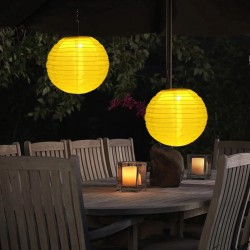 Lampion solar LED, 28 cm, rezistent la apa, sistem de prindere