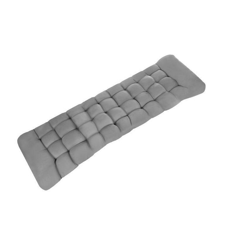 Perna matlasata pentru sezlong, bumbac, curele fixare, 165x50x10 cm