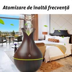 Difuzor cu ultrasunete pentru aromaterapie, umidificare, 130ml, USB, 15x9.5cm