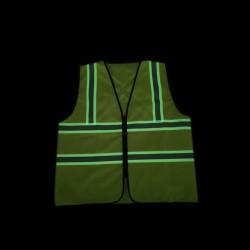 Material fosforescent verde, 1.22x1m, efect reflectorizant, greutate 210g/mp