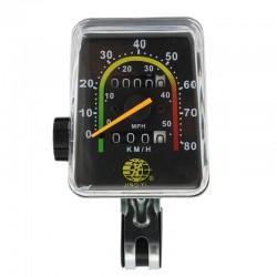 Kilometraj mecanic pentru bicicleta, vitezometru resetabil analog, cablu transmisie, resigilat