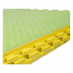 Covor tip puzzle, spuma EVA, 60x60 cm, 2 fete, 4 piese, verde