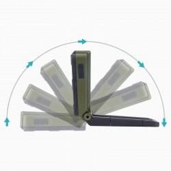 Lampa de lucru LED COB+XPE, reincarcabila USB, 4 moduri iluminare, magentica, pliabila
