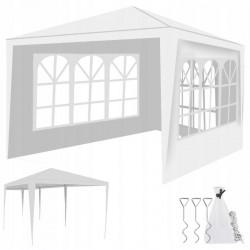 Cort 3x3 m, folie PE 100g/mp, 4 pereti, ferestre, cadru otel, accesorii montare
