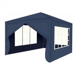 Cort gradina, 3x3 m, 4 pereti, impermeabil, cadru otel, ferestre, albastru inchis